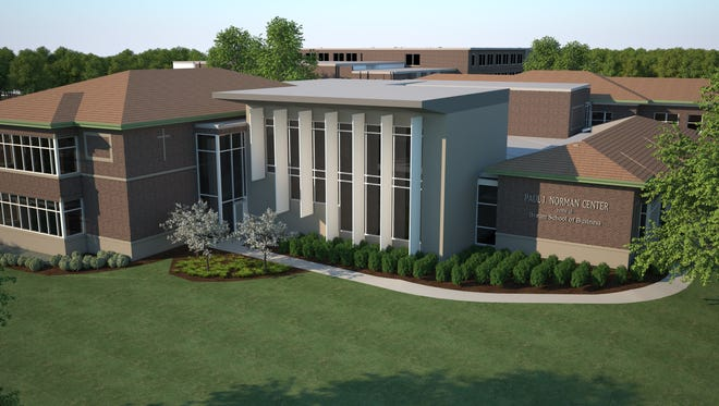 Rendering of the Paul J. Norman Center home of the Byrum School of Business at Marian University.