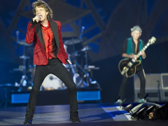 Mick Jagger with the Rolling Stones, 2015 at Indianapolis