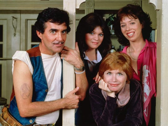 "Pat Harrington Jr., left, portrayed Dwayne Schneider on CBS sitcom ""One Day at a Time."""