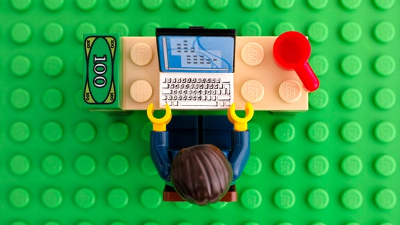 Lego office worker