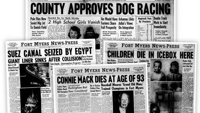 A look at the top headlines for 1956