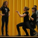 Friday's Newark High School's Rude Mechanicals comedy improv show includes a senior send-off for Emily Griffith, Ali DeAngelis and Phoebe Lucas.