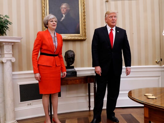 AP US TRUMP BRITAIN A USA DC