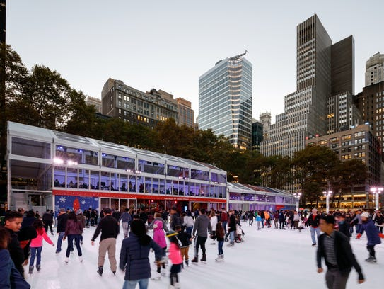 Dine rinkside at Public Fare at Bryant Park.