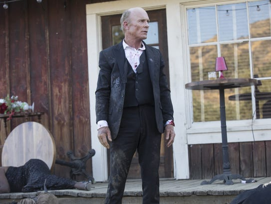The Man in Black (Ed Harris) may be a scruffy mess