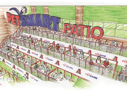 A look at the Petsmart Patio for Arizona Diamondbacks'