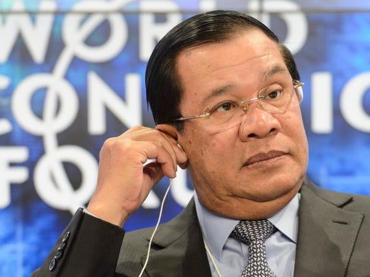 Techo Hun Sen, prime minister of Cambodia attends a