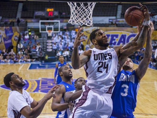 2015 MEAC Men's Basketball Tournament game between Hampton and UMESd