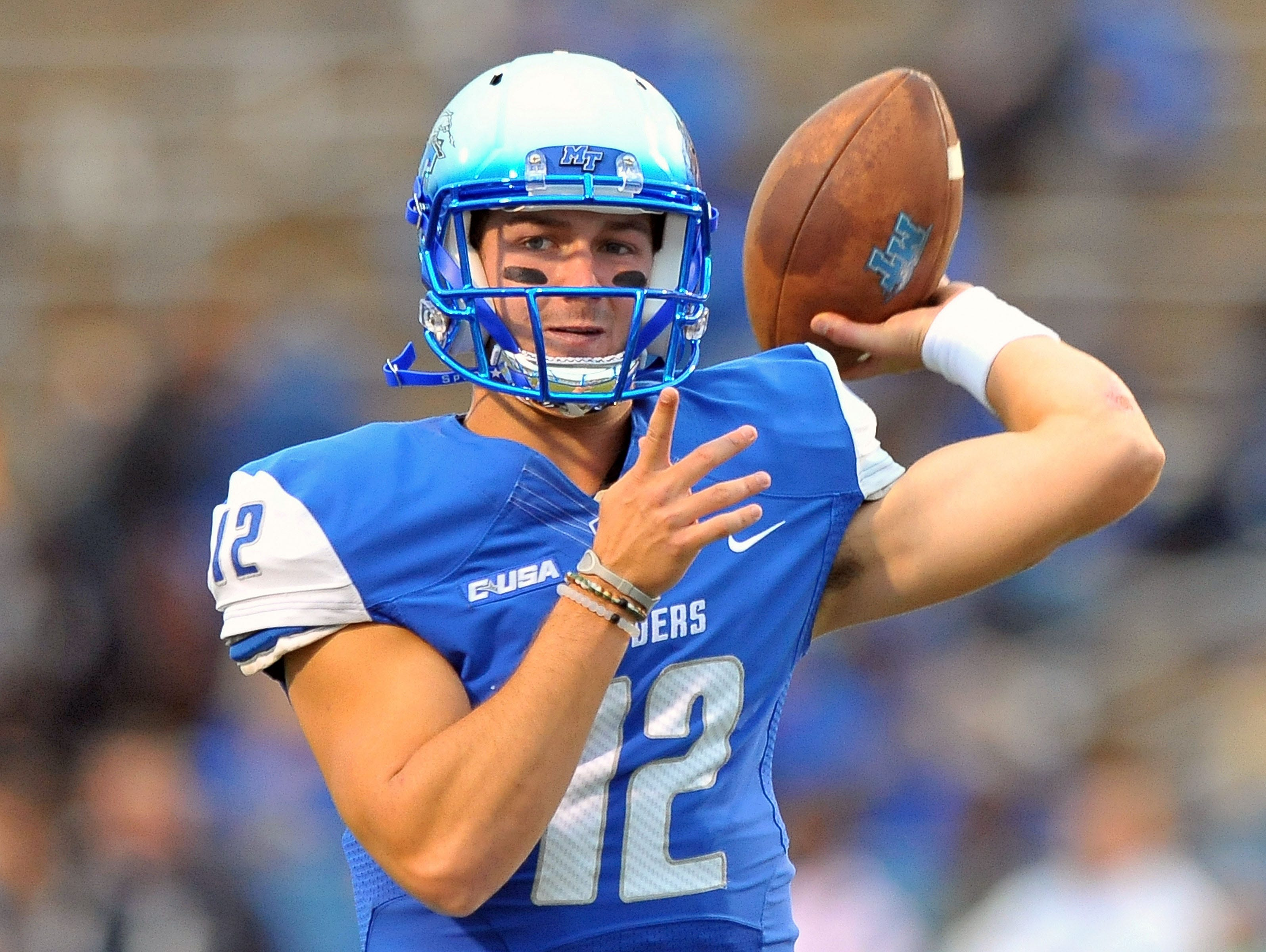 In just one season, MTSU quarterback Brent Stockstill has become one of Conference USA's top quarterbacks. In just one season, MTSU quarterback Brent Stockstill has become one of Conference USA's top quarterbacks.