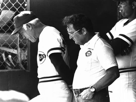 Whatever the problem in 1978, manager Sparky Anderson seemed to hope he will find the answer on the dugout floor and so did Bernie Stowe, but not coach Ron Plaza.