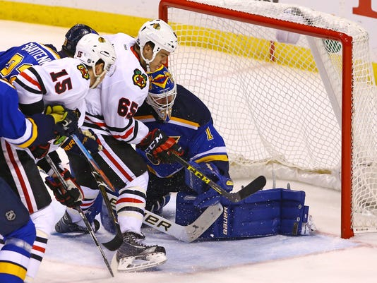 USP NHL: STANLEY CUP PLAYOFFS-CHICAGO BLACKHAWKS A S HKN USA MO