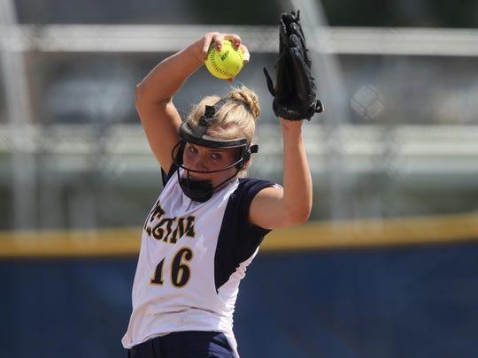 Regina's Sarah Lehman throws a pitch during the Regals'