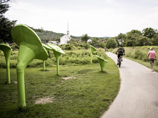 "Torin Porter's outdoor sculpture ""The Great Earscape"""