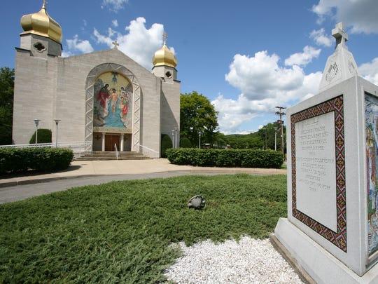 The exterior of St. John's Ukrainian Orthodox Church in Johnson City.