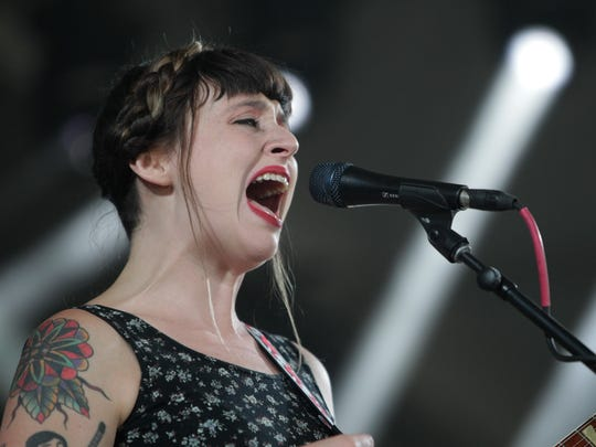 Katie Crutchfield of the band Waxahatchee performs at the Bonnaroo Music and Arts Festival last year in Manchester Tennessee. The Philadelphia-based indie rock act will perform at Dogfish Head's Analog-A-Go-Go beer and music festival on Nov. 4.