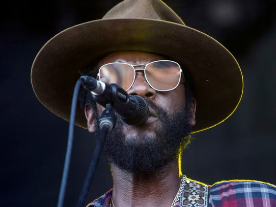 Gary Clark, Jr. performed on the Barrel Stage as one