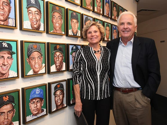 "Beverly and Bernie Hubert have donated the collection, ""New York City's Golden Boys: 76 Baseball Portraits, 1946-1960,"" to the Yogi Berra Museum & Learning Center.."