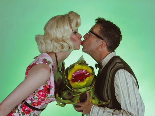 "Promotional art for Phoenix Theatre's ""Little Shop of Horrors."""