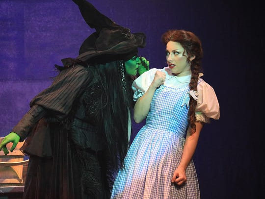 The Wicked Witch of the West (Emily Perzan) threatens