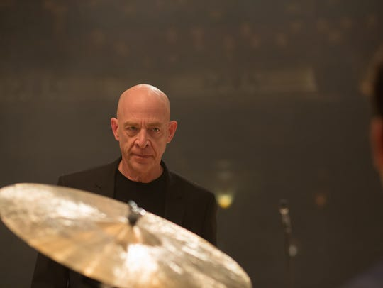 "J.K. Simmons in a scene from ""Whiplash."""