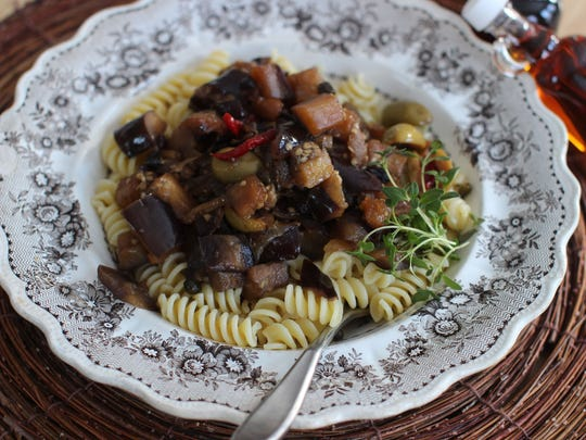 Try Maple Eggplant Agrodolce over pasta.