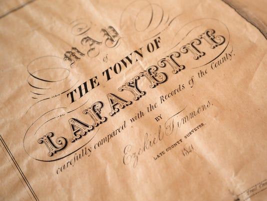 LAF Bangert col old Lafayette map