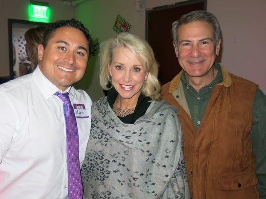 Caddo Commissioner Mario Chavez, Karin and Greg Barro
