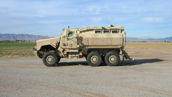 Mohave County's Mine Resistant Armored Patrol Vehicle.