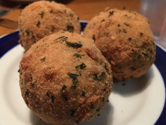 Peg's Kraut Balls, which we thought might be the size
