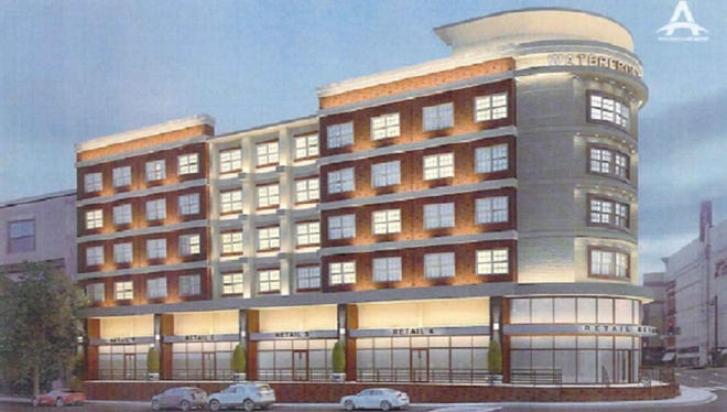 A rendering of the proposed five-story development in Port Chester