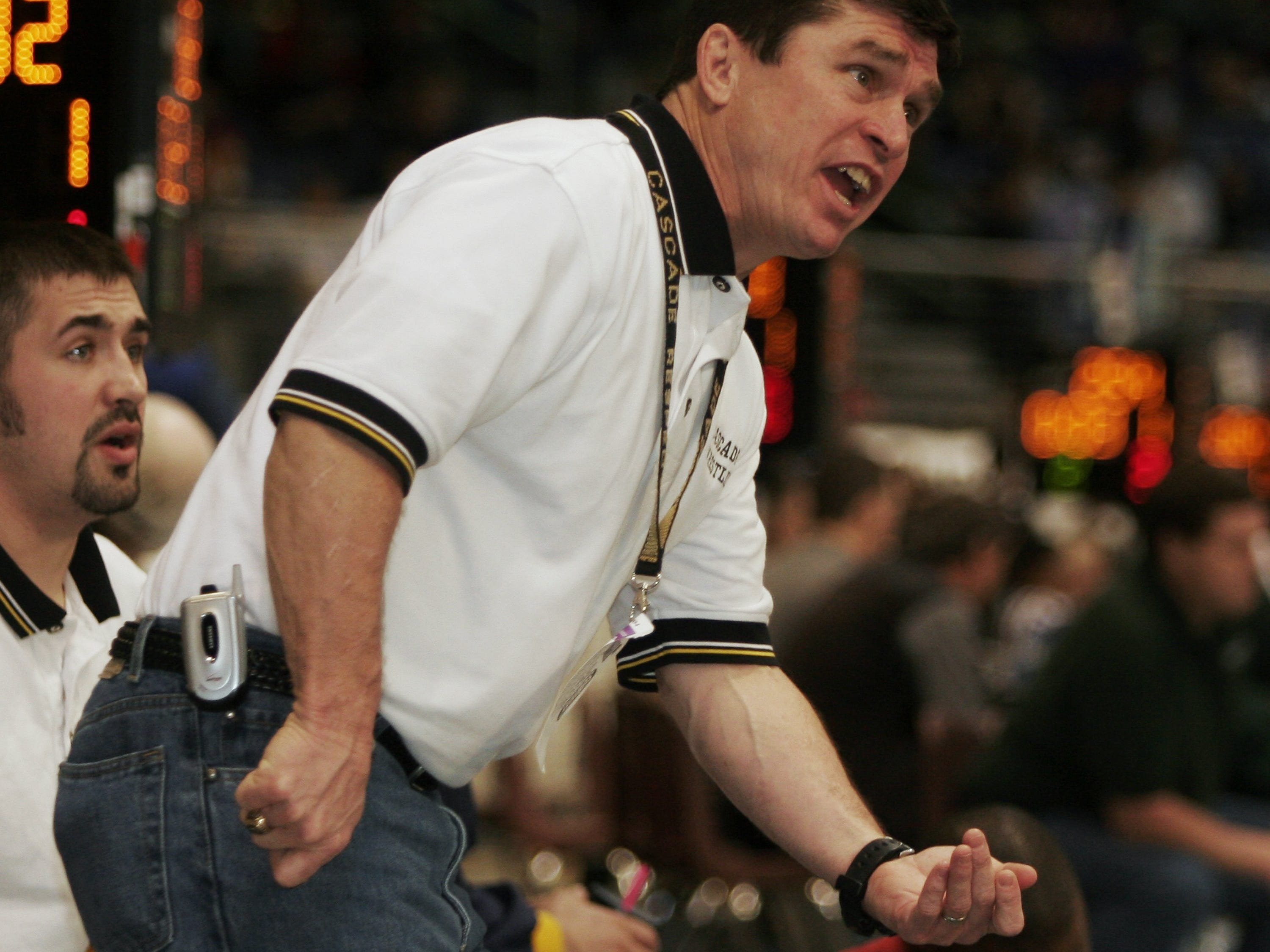 Former Cascade wrestling coach Tom Phillips, shown in 2006, will be inducted into Cascade's athletic Hall of Fame.
