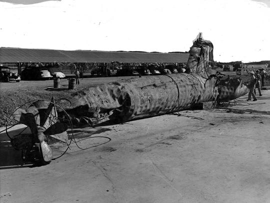 Japanese Type A Midget Submarine At the Pearl Harbor