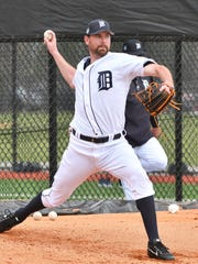The Tigers released pitcher Mike Pelfrey on Thursday.