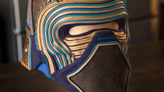Artwork at the home of Gabriel Dishaw, a found-object artist who's currently working on a series of Star Wars themed fan art pieces, Fishers, Thursday, Nov. 30, 2017.