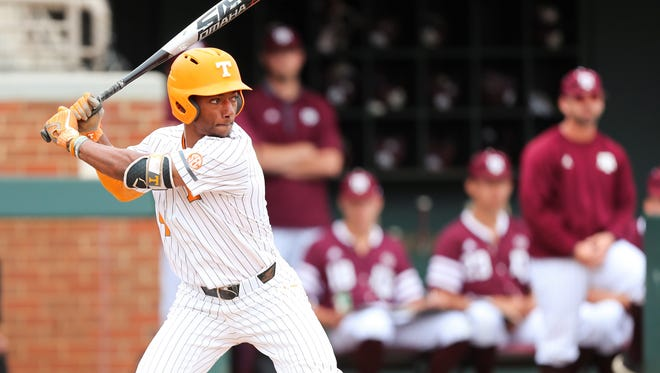 Tennessee's Jay Charleston was 3-for-5 Sunday.