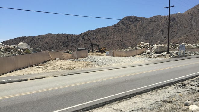 A construction entrance to the Desert Palisades residential development in the north end of Palm Springs will also serve as an entrance for emergency vehicles once the project is complete.