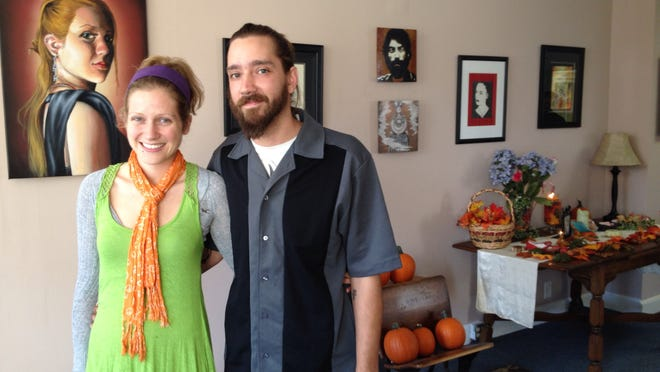 """Kelly and Josh Faust are part of the ownership team of the family-owned The Artists' Brush at 267 Main St. in Florence. Along with Josh's parents, Chris and Teresa Coors, they are reaching out to other arts shops and businesses to hold monthly """"Holidays on Main,"""" starting Saturday."""