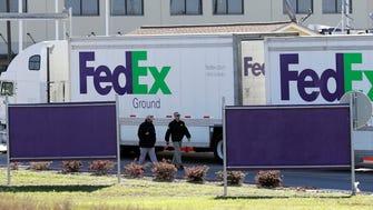 FedEx distribution center in Schertz, Texas on March 20, 2018