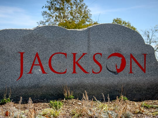 The Jackson National Life logo emblazons a rock outside the insurance company's building on Sandhill Road. The company received a tax refund after contesting the assessed value of the property.