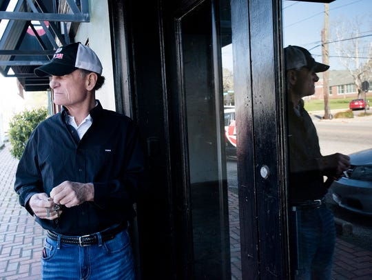 Mike Watson, property owner, stands outside the space