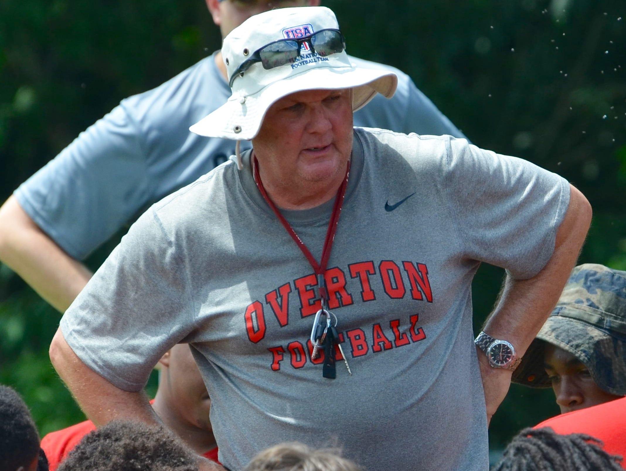 Overton coach Steven Williams