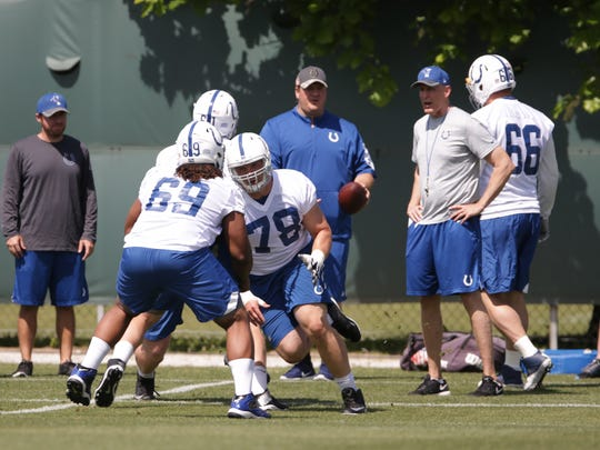 """Colts owner Jim Irsay declared his offensive line """"fixed"""" at a town hall event last week."""