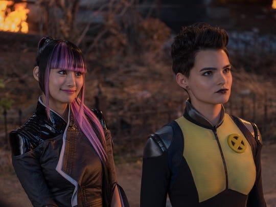 "Shioli Kutsuna (left) and Brianna Hildebrand star in ""Deadpool 2."""