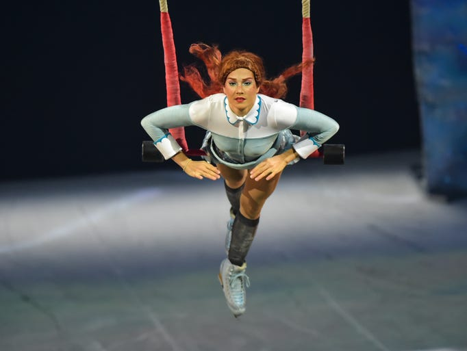 Dress rehearsal performance of Cirque Du Soleil's Crystal