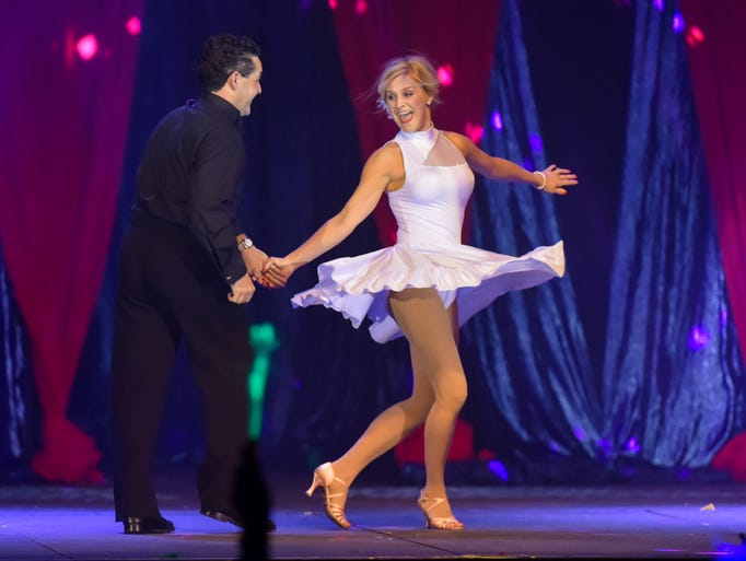 Katy Savant and Denis Simon at Dancing with the Stars