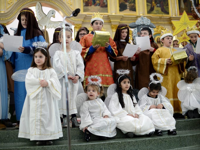 Children from the St. Lazarus Serbian Orthodox Cathedral's