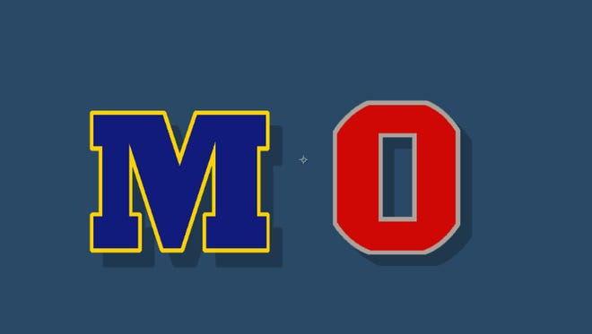 The rivalry between the University of Michigan and Ohio State!