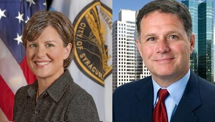 Former Syracuse Mayor Stephanie Miner and Pelham Mayor Michael Volpe are running for governor and lieutenant governor, respectively, on the Serve America Movement line in 2018.