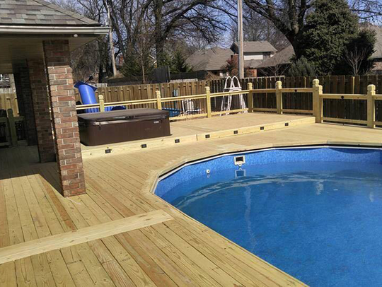 More homeowners are building decks around Jacuzzis