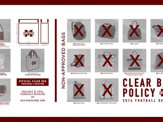 Mississippi State's clear bag policy